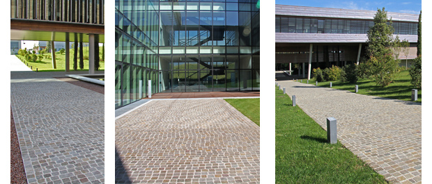 Cobblestones Porphyry Entrance - DIESEL Headquarters - ITALY